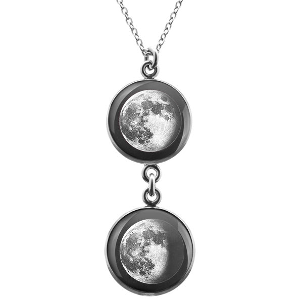 Waning Gibbous I Duo Luna Necklace