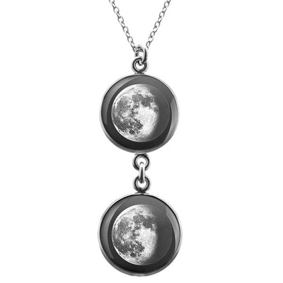 Waning Gibbous II Duo Luna Necklace