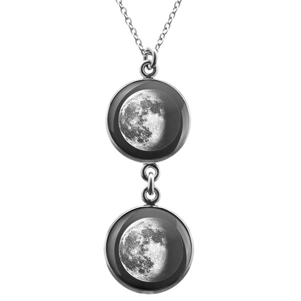 Waning Gibbous III Duo Luna Necklace