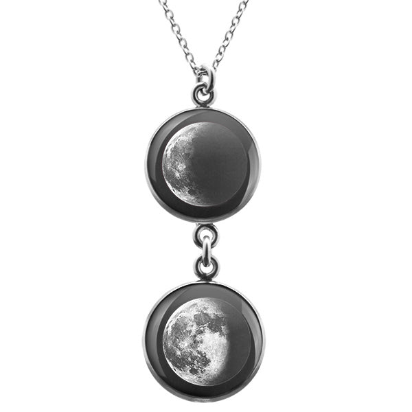 Waning Crescent I Duo Luna Necklace
