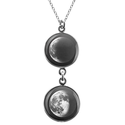 Waning Crescent II Duo Luna Necklace