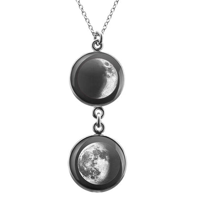 Waxing Crescent III Duo Luna Necklace