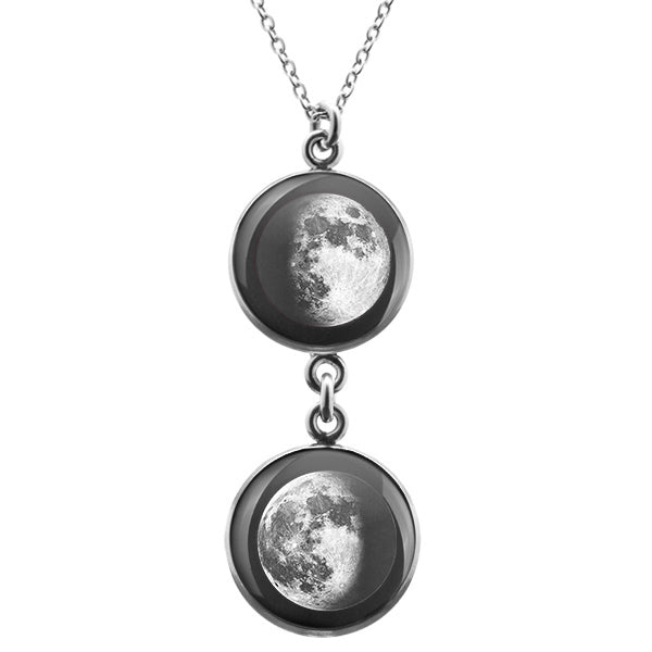 Waxing Gibbous I Duo Luna Necklace