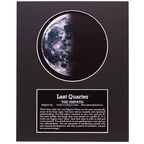 Last Quarter Moon Art