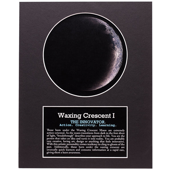 Waxing Crescent I Moon Print