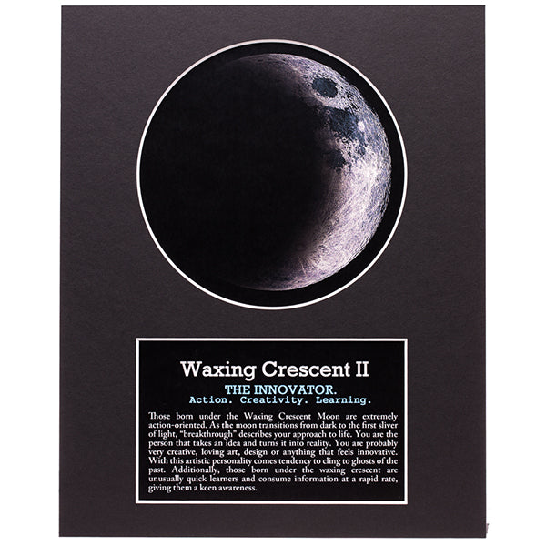 Waxing Crescent II Moon Art