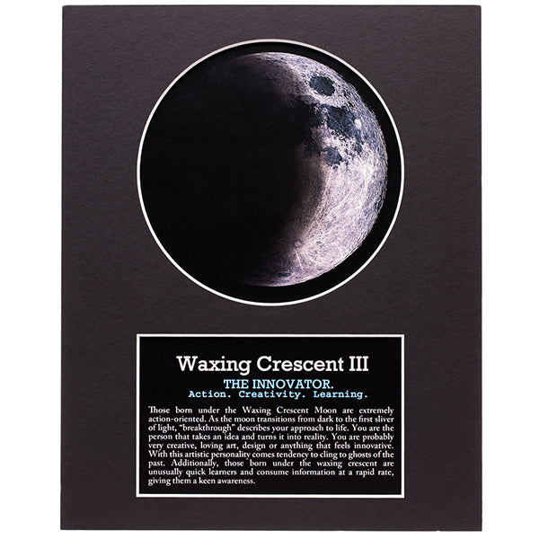 Waxing Crescent III Moon Art