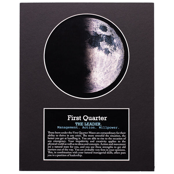 First Quarter Moon Print