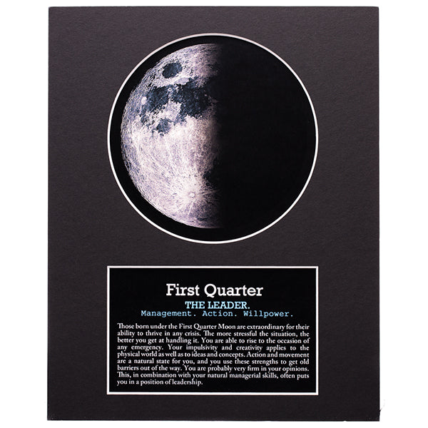First Quarter Moon Art