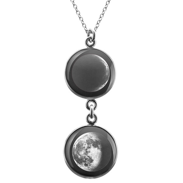 Waning Crescent III Duo Luna Necklace
