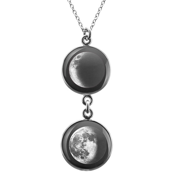 Waxing Crescent II Duo Luna Necklace