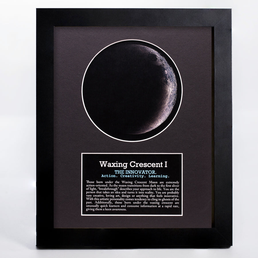 Waxing Crescent I Moon Art