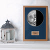 "Last Quarter 12"" x 18"" Moon Phase Art"