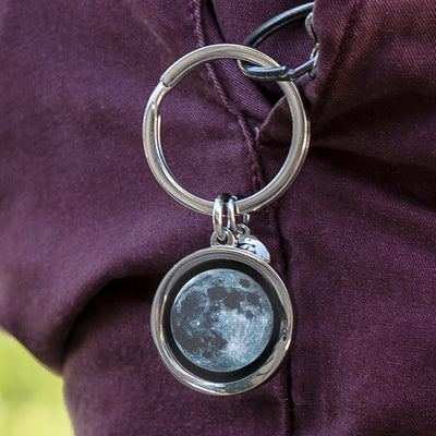 New Moon Keychain