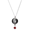 Waning Gibbous III Swarovski Birth Month Luna Necklace