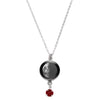 Last Quarter Swarovski Birth Month Luna Necklace