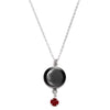 Waning Crescent II Swarovski Birth Month Luna Necklace