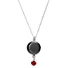 Waning Crescent III Swarovski Birth Month Luna Necklace