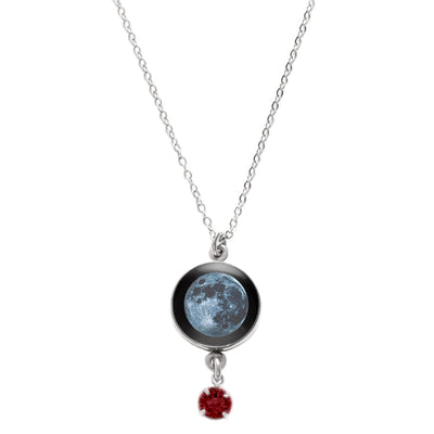 New Moon Swarovski Birth Month Luna Necklace