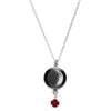 Waxing Crescent III Swarovski Birth Month Luna Necklace
