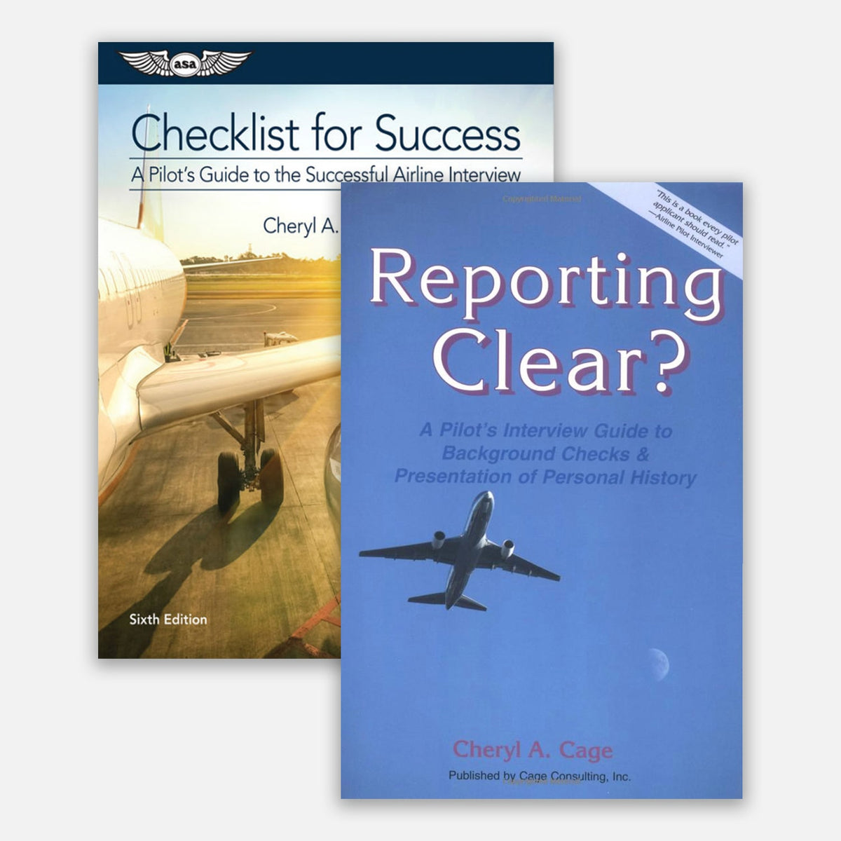 Cage Marshall Consulting two Book Covers - Checklist for Success and Reporting Clear
