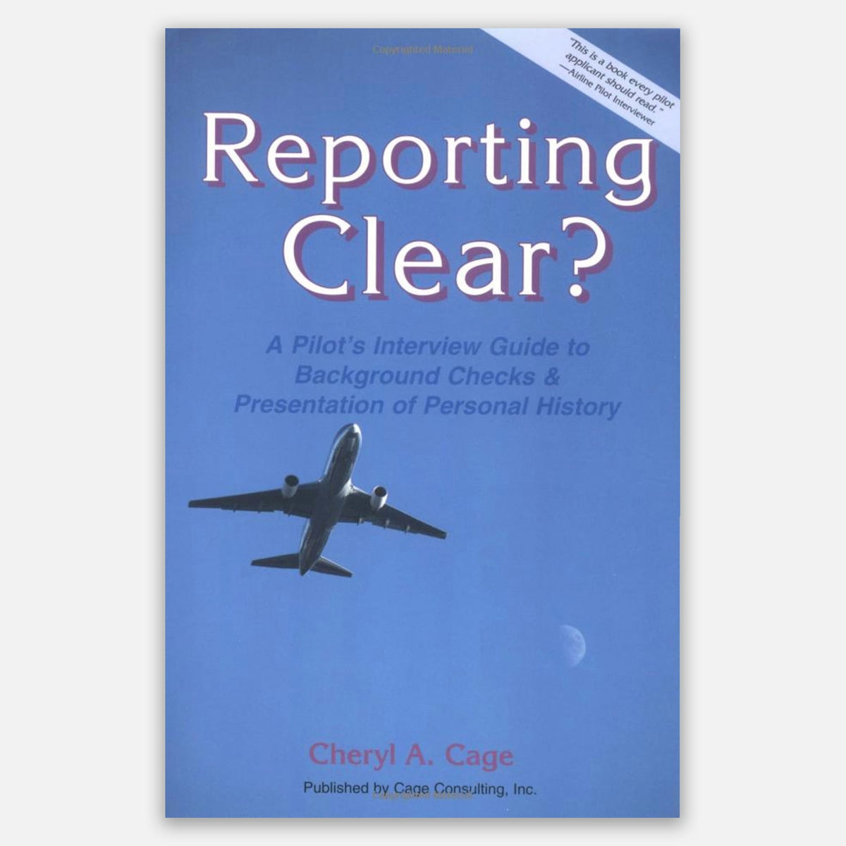 Cage Marshall Consulting Book Cover - Reporting Clear?