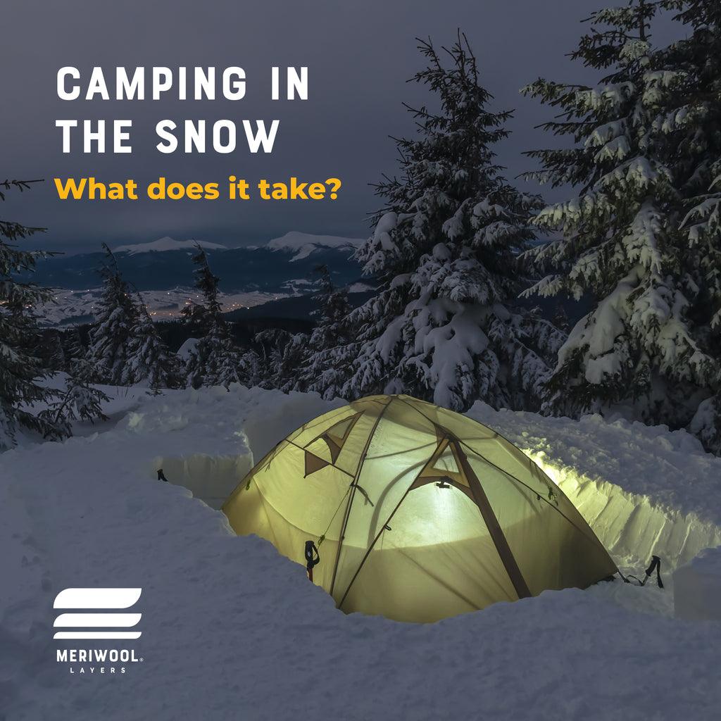 camping on the snow