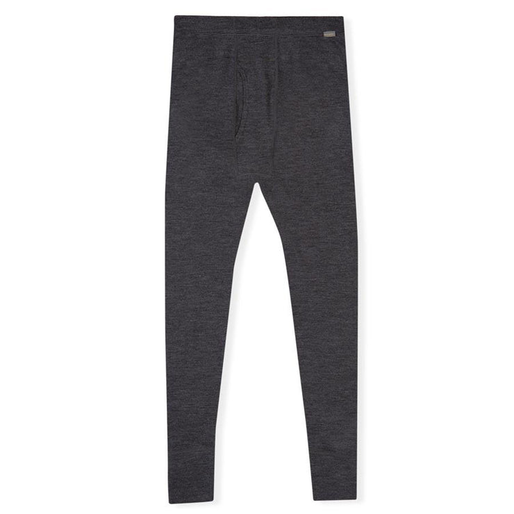 mens charcoal gray merino wool 250 base layer thermal bottoms laying flat