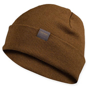 coyote colored merino wool ribbed knit beanie