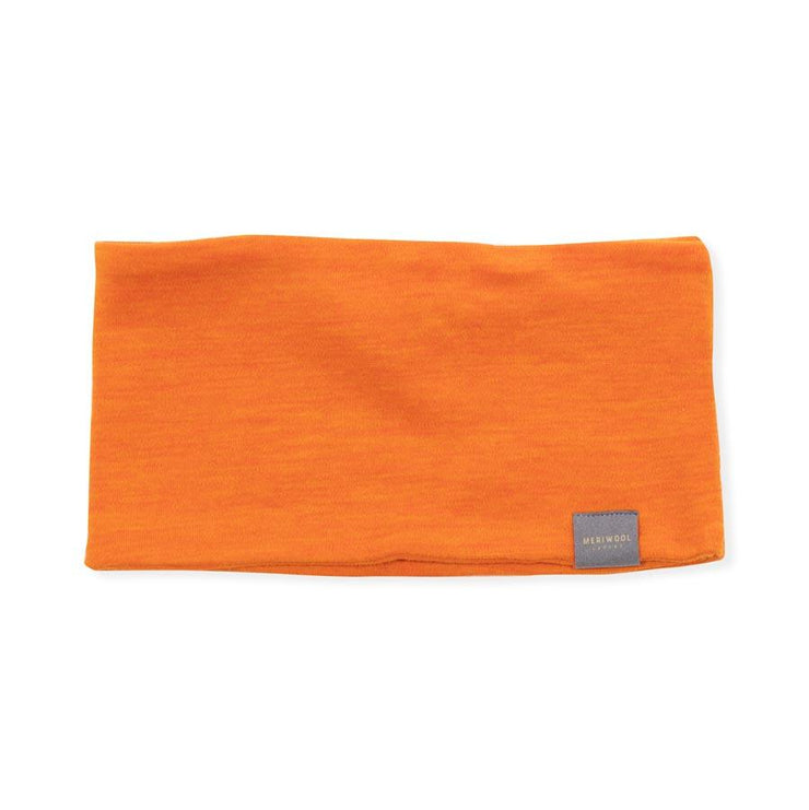 orange merino wool headband