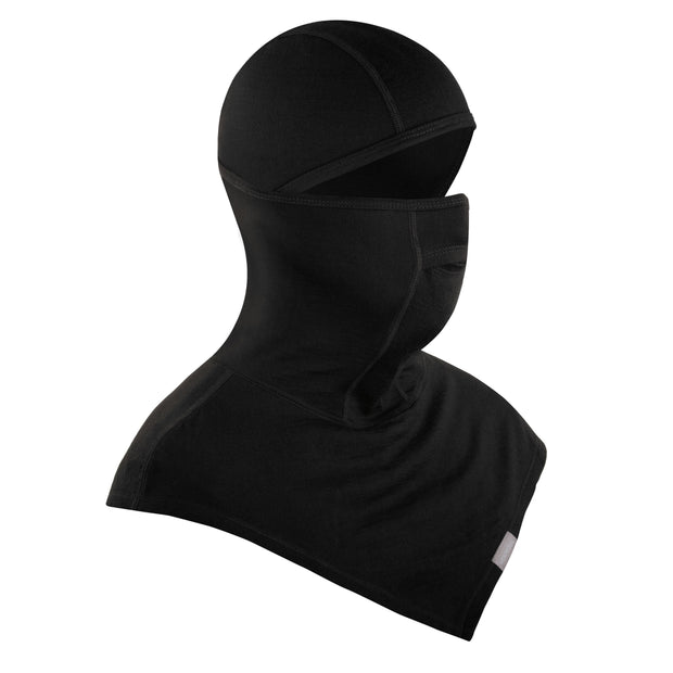black merino wool 200 youth balaclava face mask