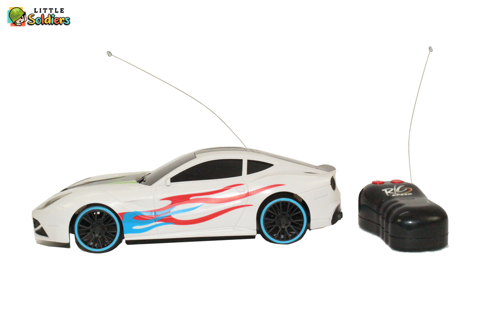 1:18 Remote Controlled Kids Model Car-white | Little Soldiers