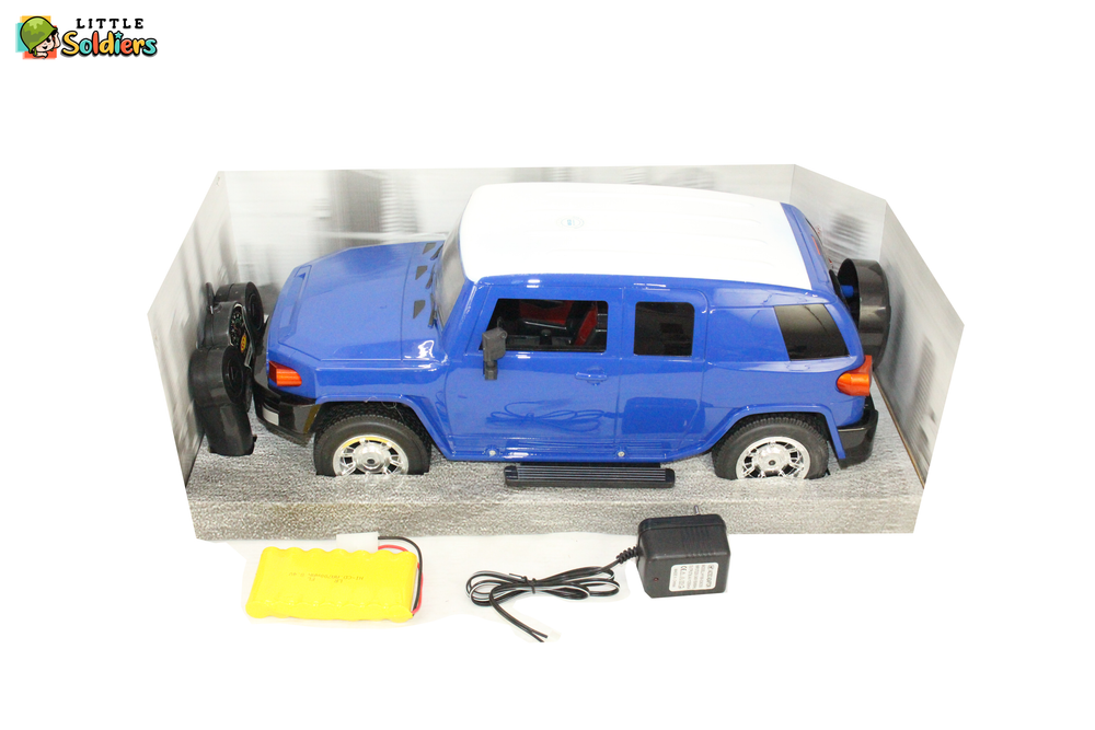 Little Soldiers 1:10 Remote Controlled Model Car - Blue