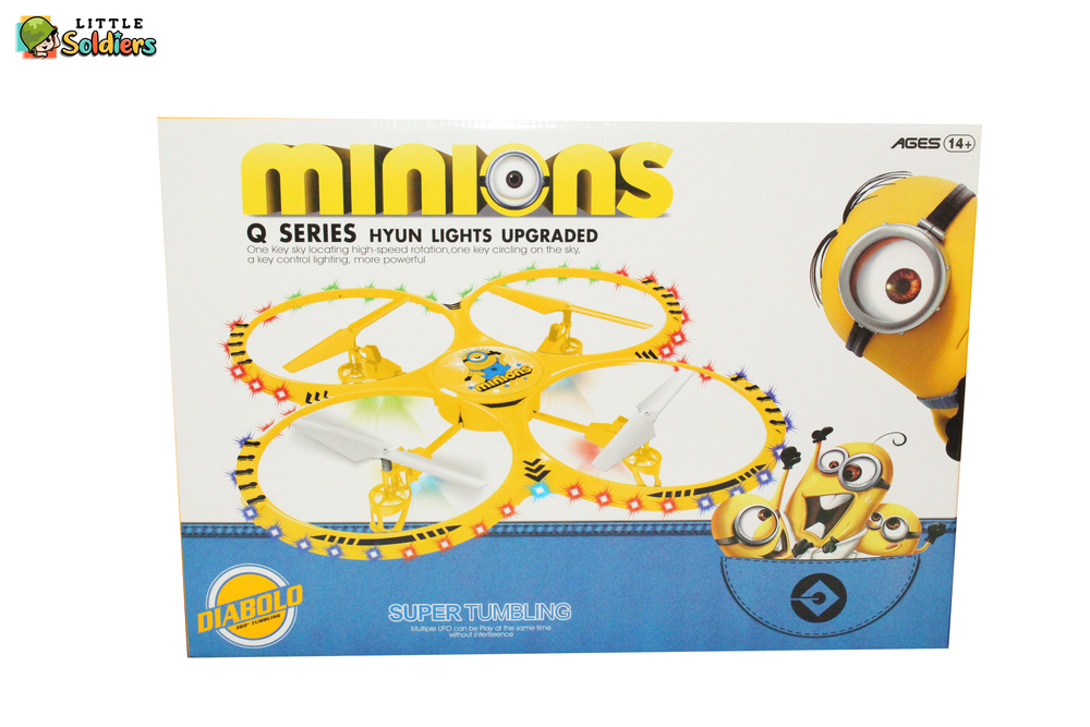 Little Soldiers Diabolo Minions 360 degree tumbling Drone Styled toy