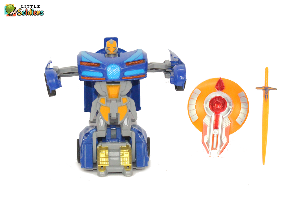 Little Soldiers Transformer toys deforms to car and alloy fighter