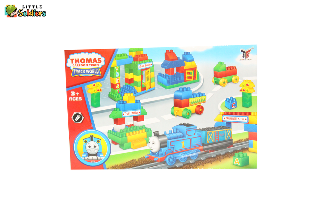 Creative train and blocks set with battery | Little Soldiers
