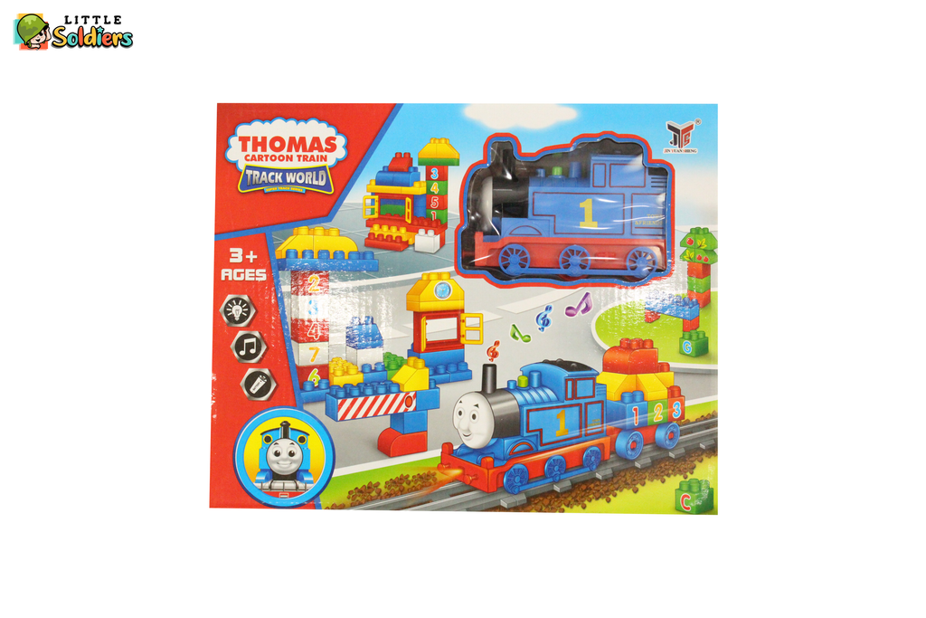 Thomas Cartoon Train and Blocks | Little Soldiers