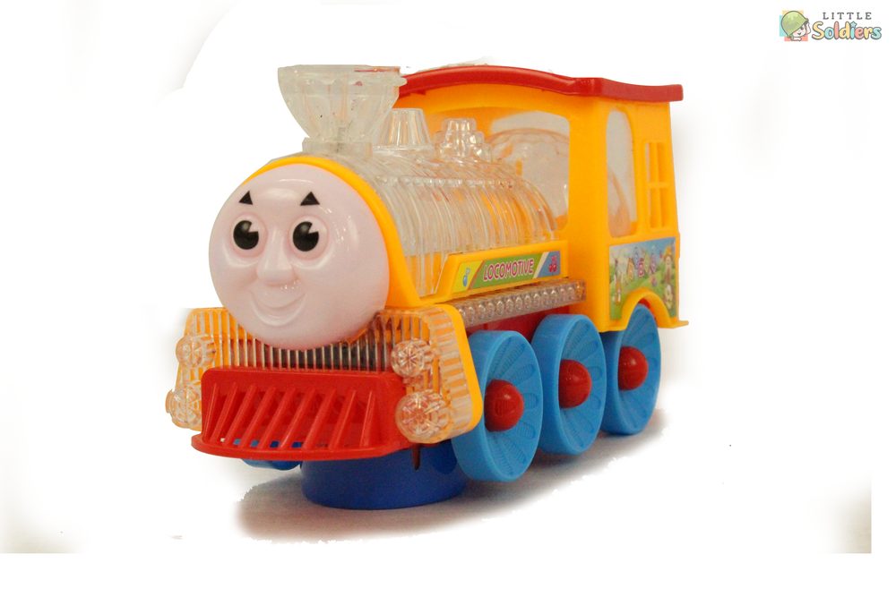 Go Musical  Engine Train Toy with Colorful Light Funny Loco| Little Soldiers