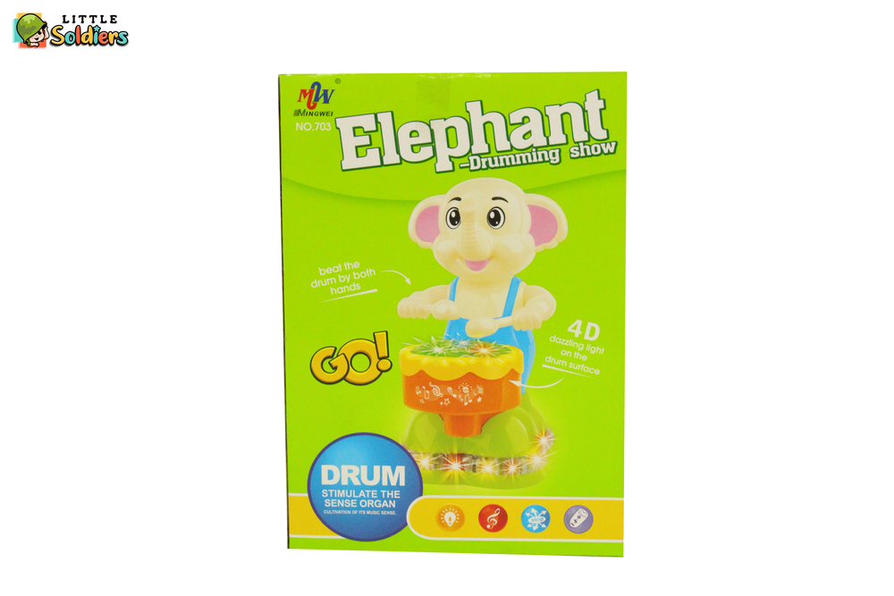Elephant Drumming Show | Little Soldiers