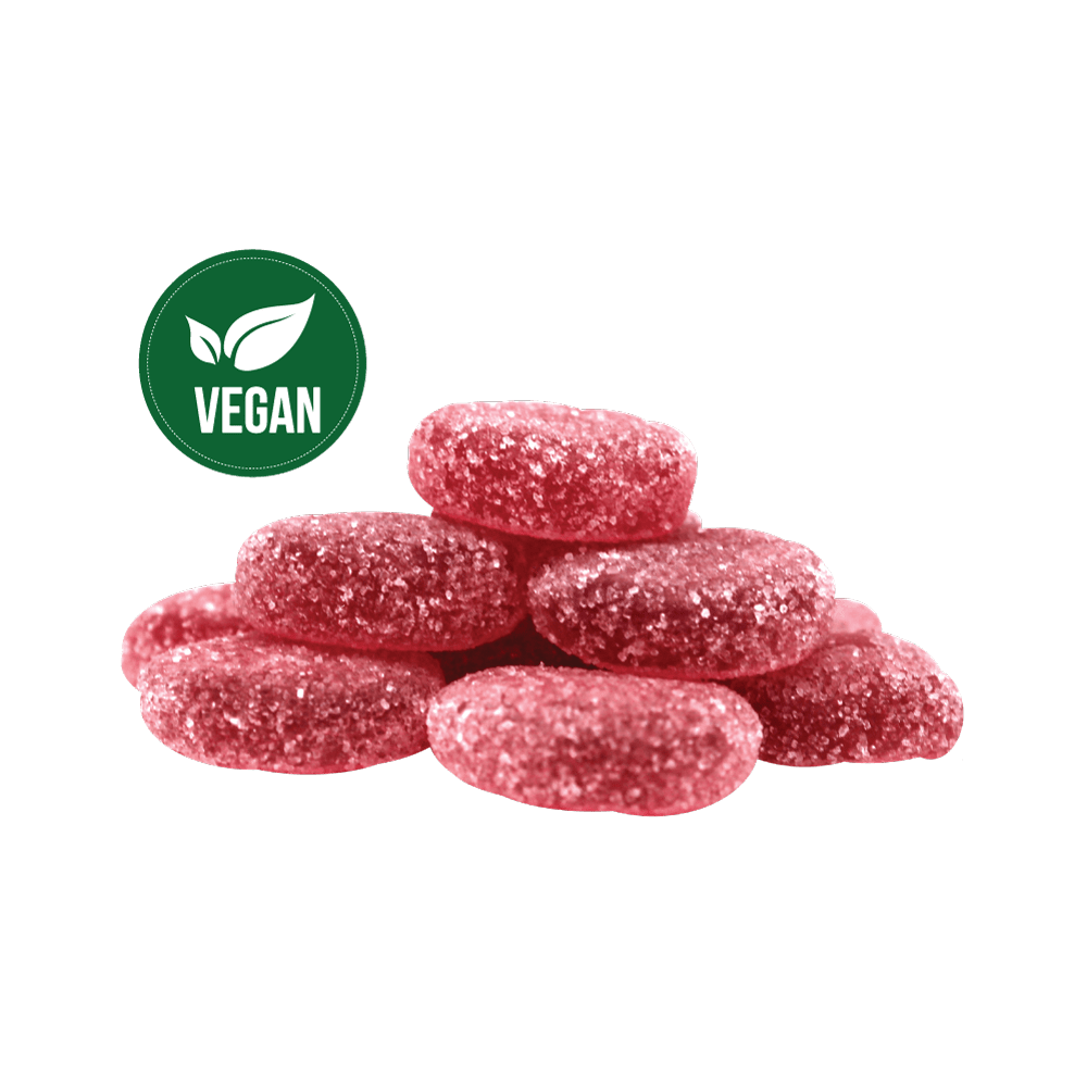 CBDRUS Raspberry Fruit Gems (Vegan)