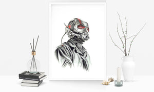 Ant Man/Limited Edition/Hand Drawing by Wil Shrike