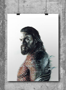 Aquaman | Limited Edition | Hand Drawing by Wil Shrike