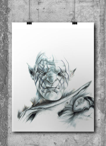 Azog the Defiler | Limited Edition | Hand Drawing by Wil Shrike