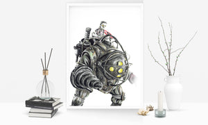 Big Daddy/BioShock | Limited Edition | Hand Drawing by Wil Shrike