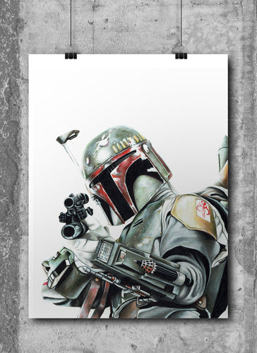 Boba Fett/Limited Edition/Hand Drawing by Wil Shrike