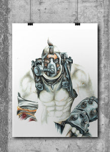 Krieg/Borderlands | Limited Edition | Hand Drawing by Wil Shrike
