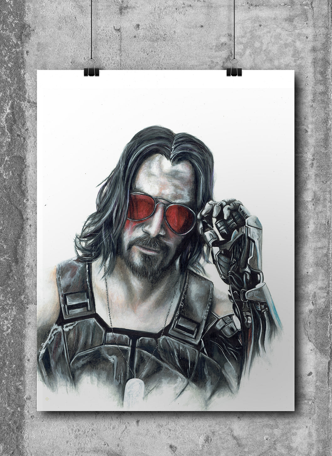 CyberPunk 2077/Limited Edition/Hand Drawing by Wil Shrike