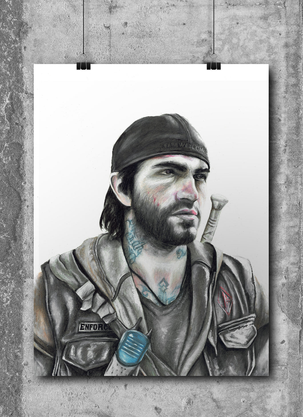 Deacon/Days Gone | Limited Edition | Hand Drawing by Wil Shrike