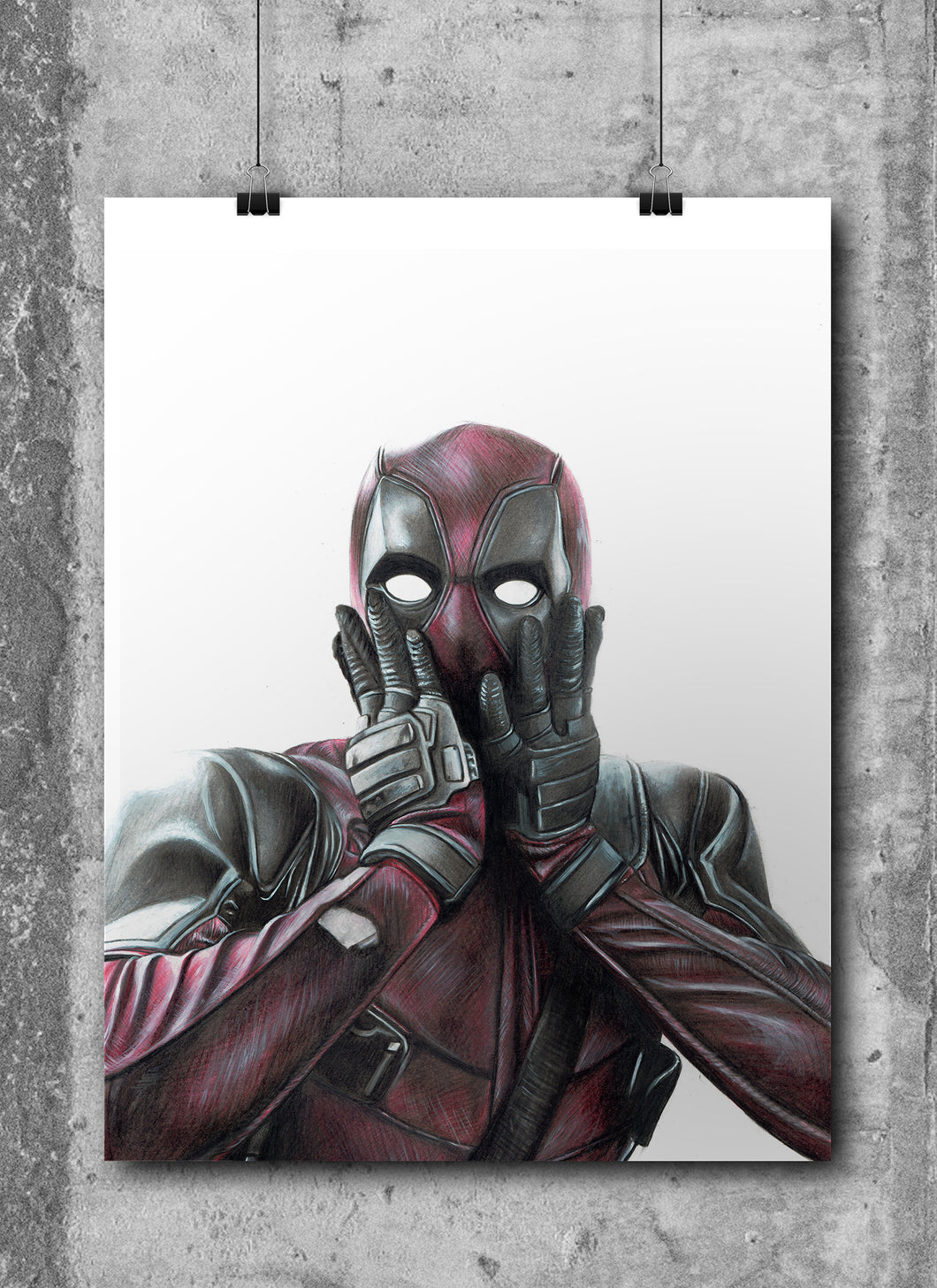 Deadpool | Hand Drawing by Wil Shrike