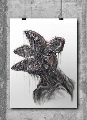 Demogorgan/Limited Edition/Hand Drawing by Wil Shrike